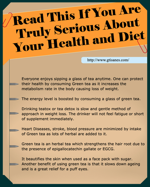 Add Green Tea for Weight Loss! Galilee Tisanes provides finest Herbal Detox Tea, Best Teas for Weight Loss and Medicinal Herbal Tea Remedies to help you maintain a better, healthier life. Order now.Log on http://www.gtisanes.com/ ☺. ☂. ☂  ✿