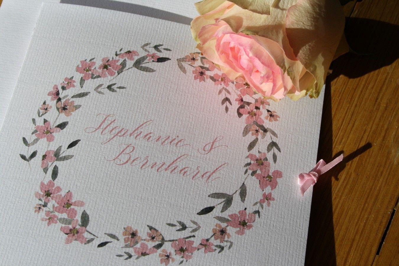 Hochzeitspapeterie Einladung Im Modernen Vintage Stil Mit
