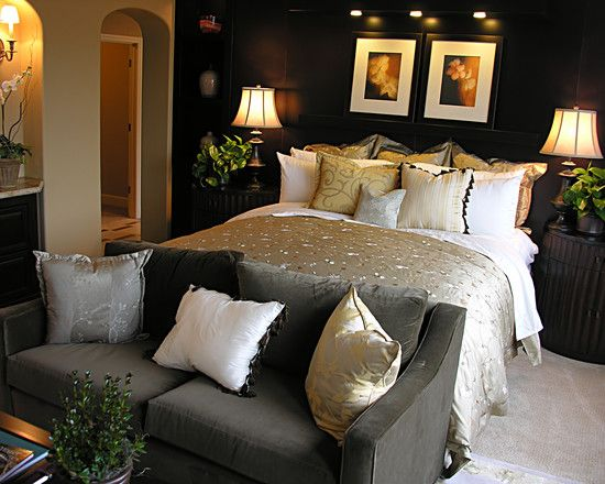 Wanted A Sexy Black Bedroom Design, Pictures, Remodel, Decor and