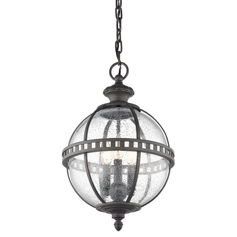 View the kichler 49603 halleron 3 light 12 wide pendant with globe kichler 49603 halleron 3 light wide pendant with globe shaped seedy glass an londonderry outdoor lighting pendants aloadofball Gallery