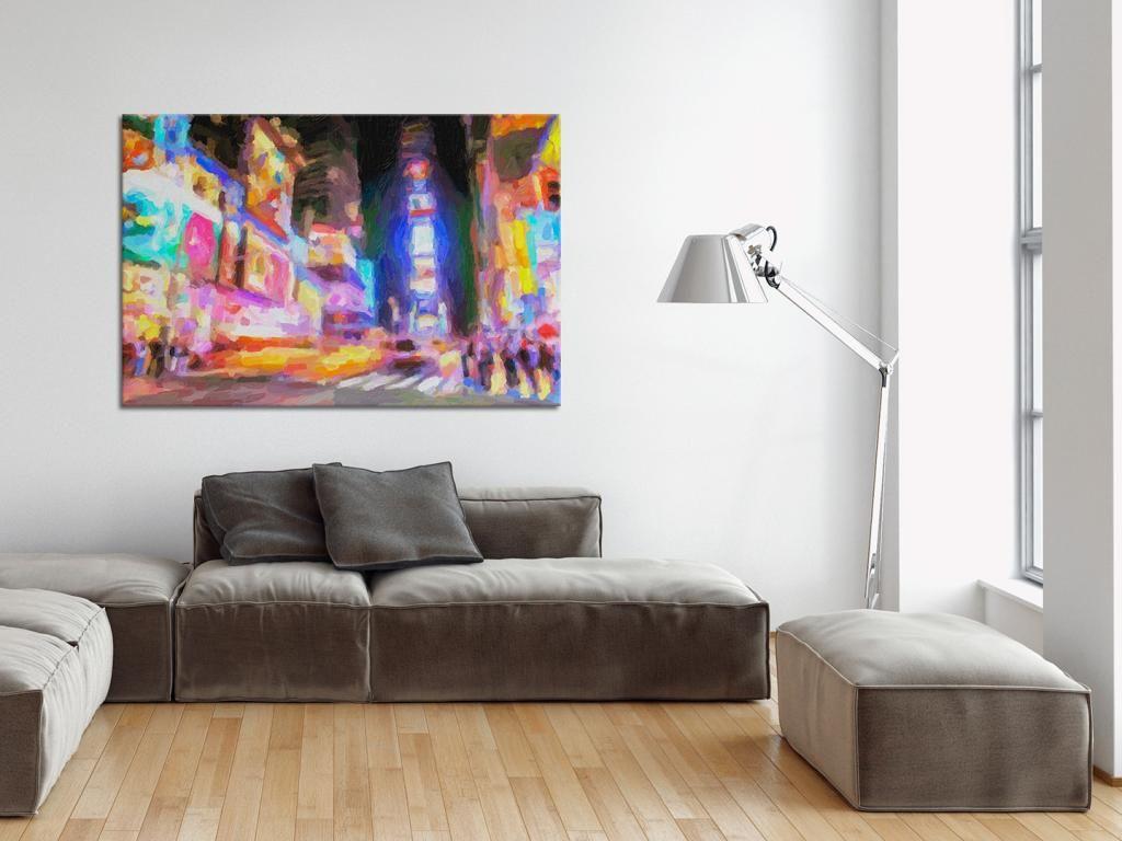 Nowoczesny Obraz Na Plotnie Abstrakcja Nowy Jork 4628666470 Oficjalne Archiwum Allegro Decor Home Decor Furniture