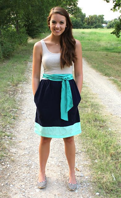 Color Block Tank Dress Tutorial by Sweet Verbena