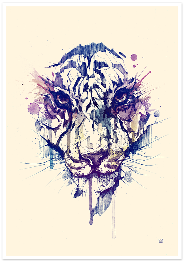 TIGER POSTER by DSORDER, via Behance