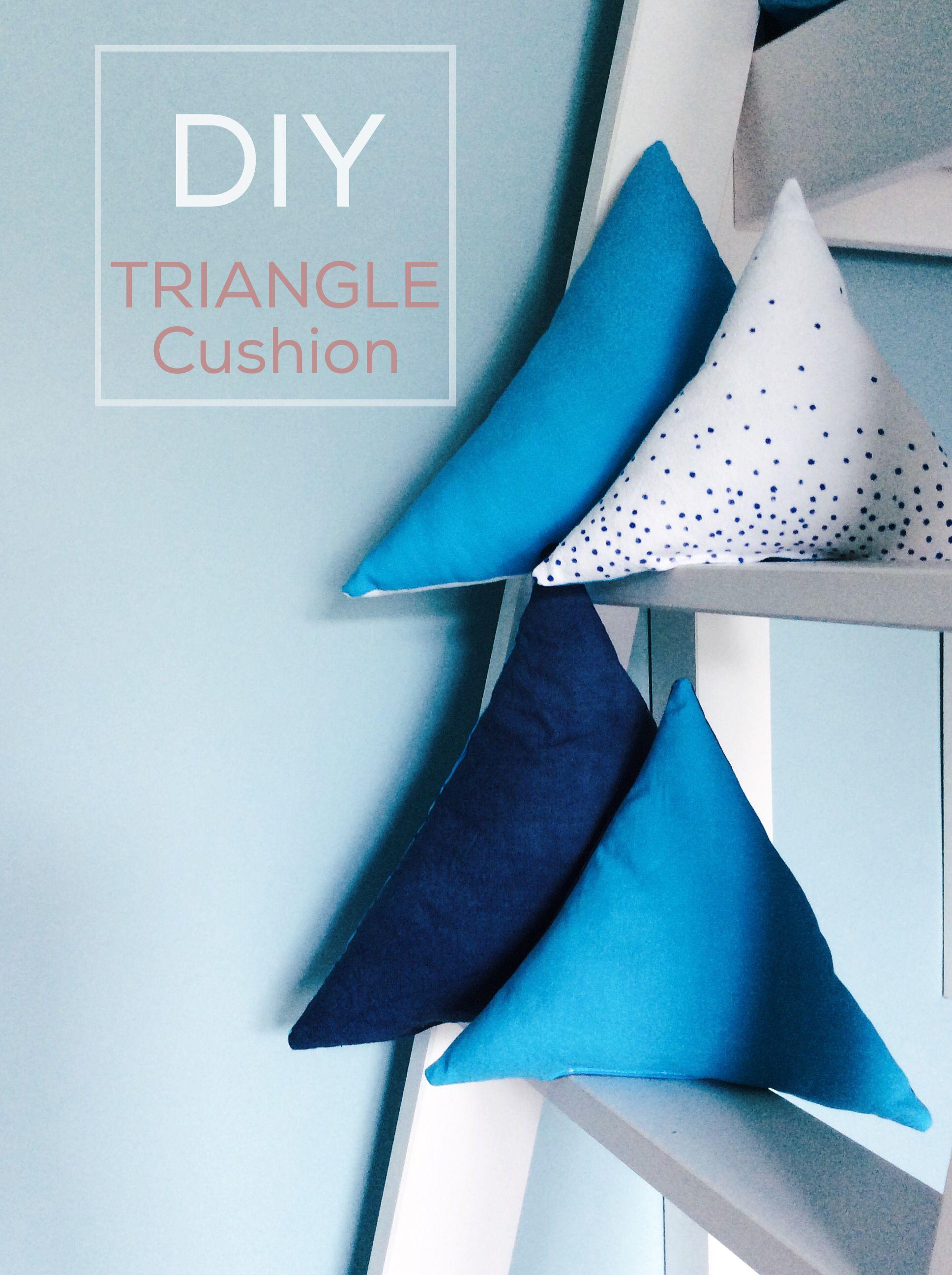 DIY triangle cushion sewing Tutorial // Nähanleitung Dreieck-Kissen // Upcycling by knobz