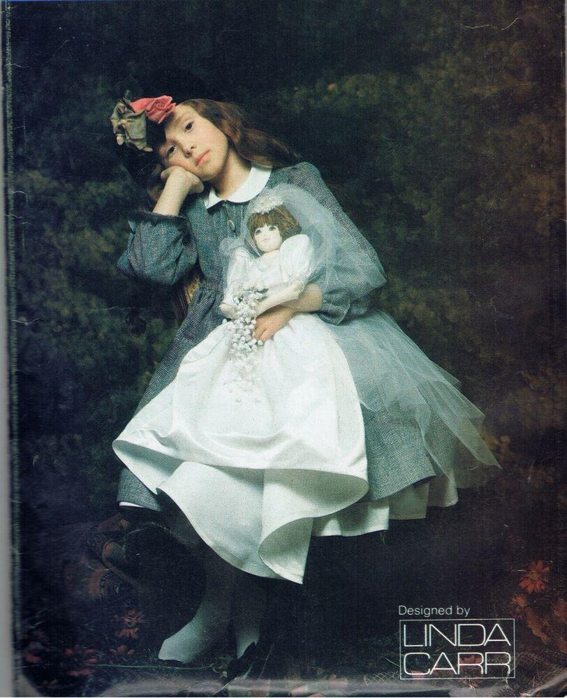 22in Bride Doll Sewing Pattern Vogue 9983 Wedding Gown Slip Veil Factory Folded  #Vogue #bridedolls