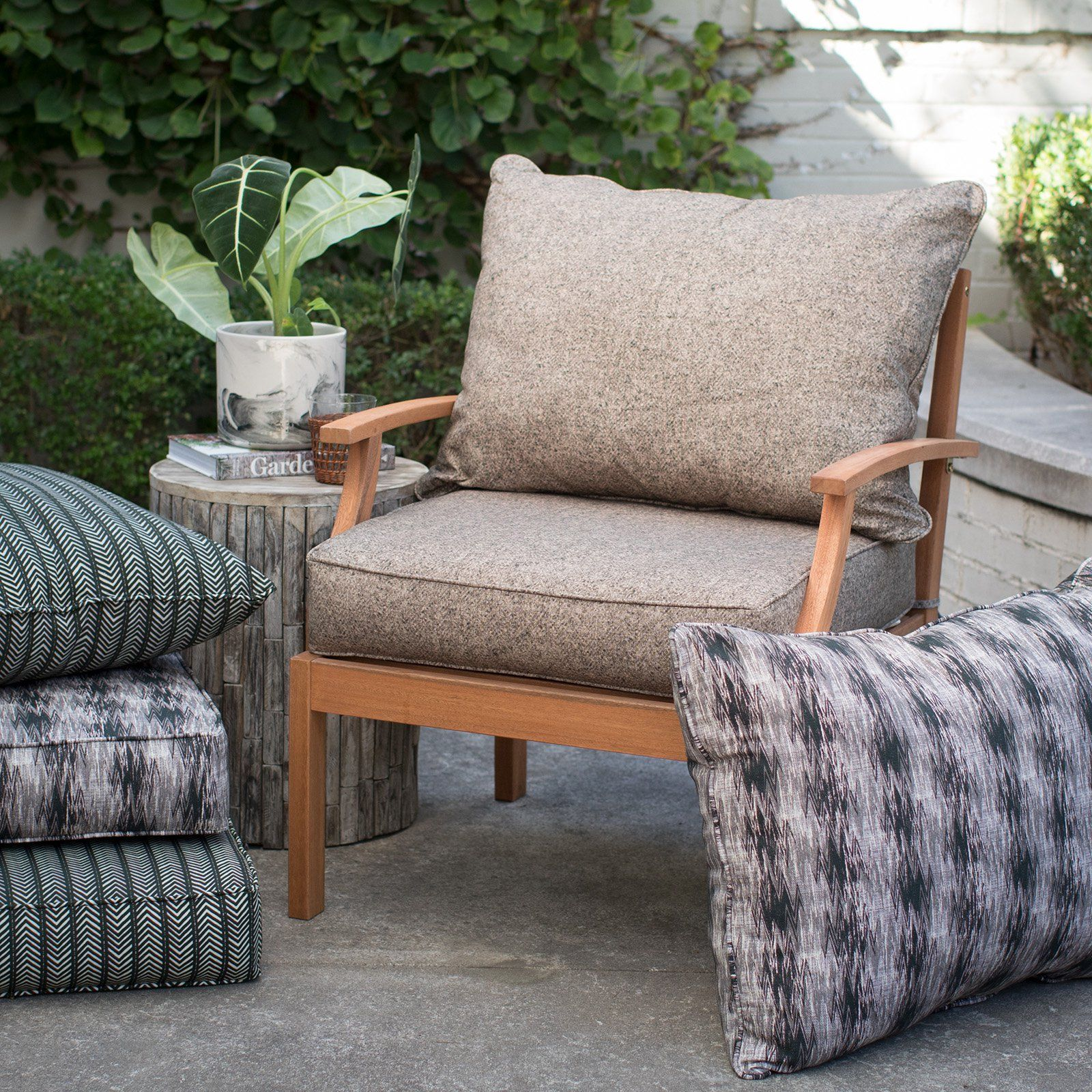 Coral Coast Mudcloth 2 Piece Deep Seat Outdoor Cushion Set Deep Seating Affordable Outdoor Furniture Outdoor Cushions