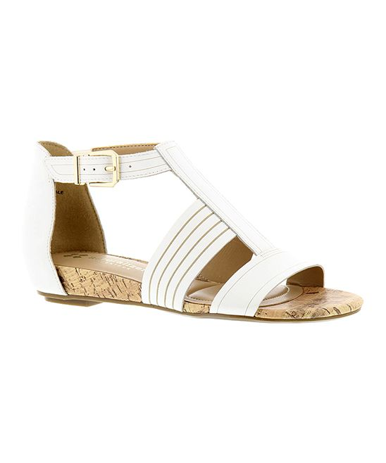 5869de143e40 White Longing Leather Sandal
