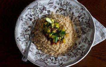 Cous cous alle verdure con curcuma e zenzero