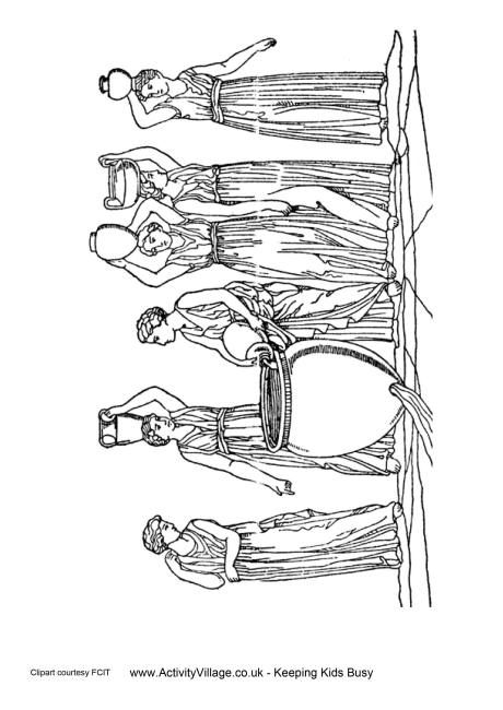 free ancient greece coloring pages - photo#32