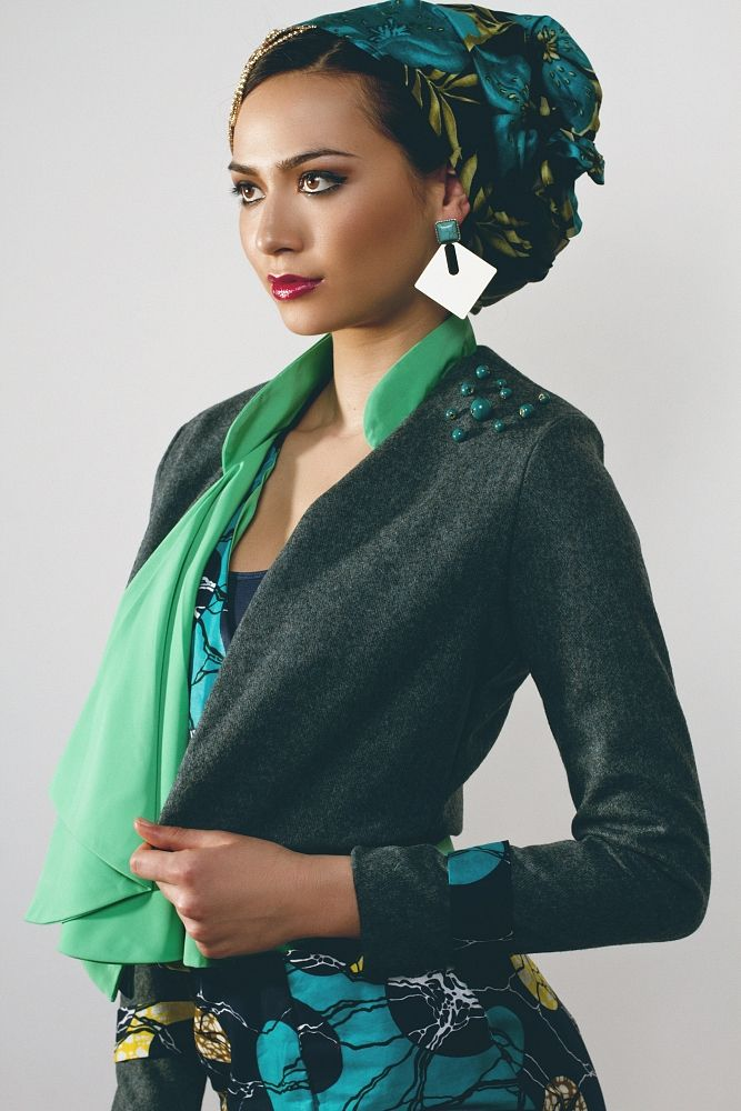 Grey wool jacket by  Tina Lobondi