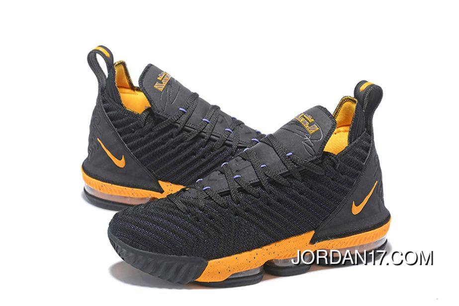 reputable site 02be6 1c1ef 2019 的 2018 Nike Lebron 16 Black Yellow Womens Mens ...