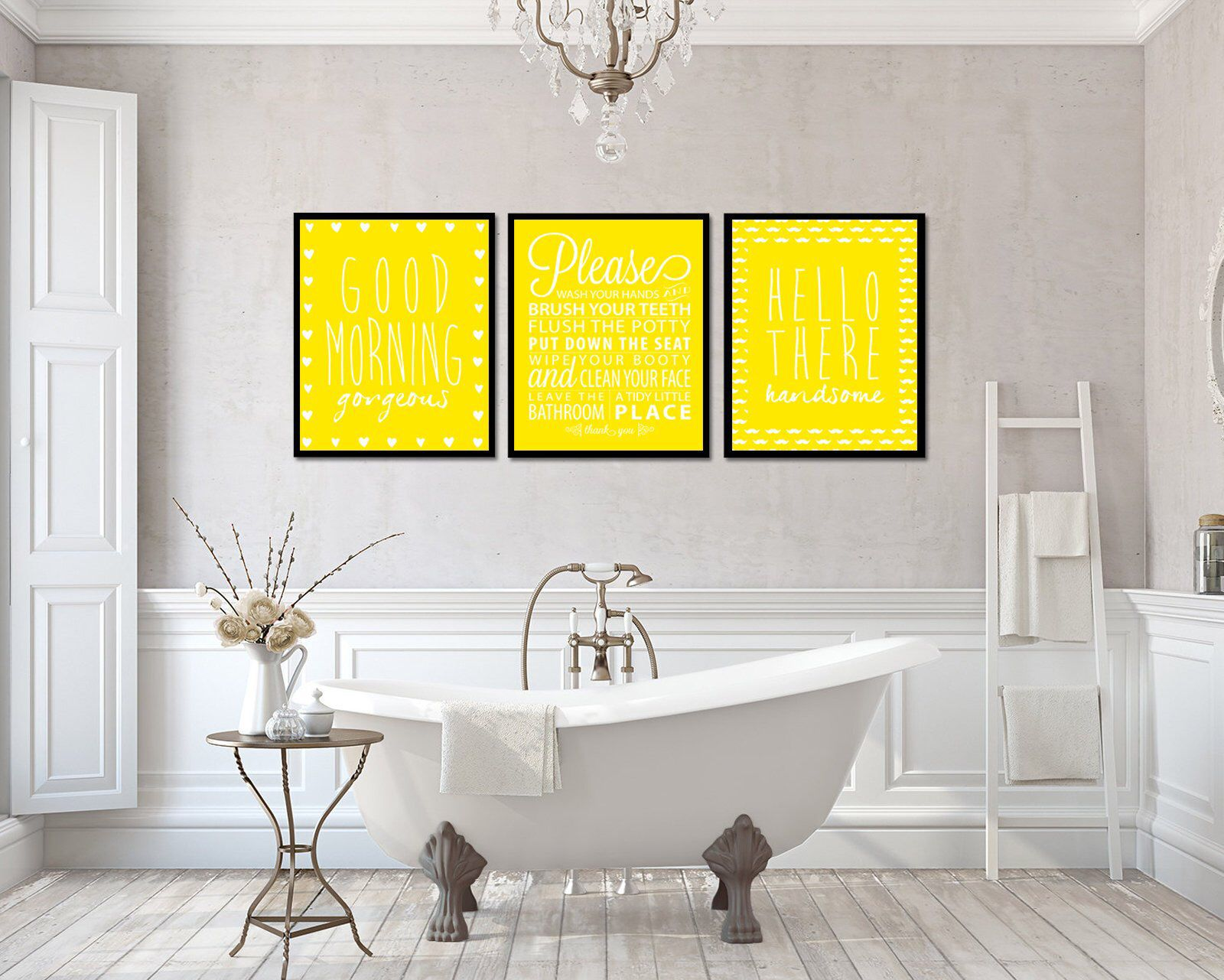 Excited To Share The Latest Addition To My Etsy Shop Bathroom Wall Art Yellow Print Good M Bathroom Wall Decor Bathroom Design Small Bathroom Design Layout