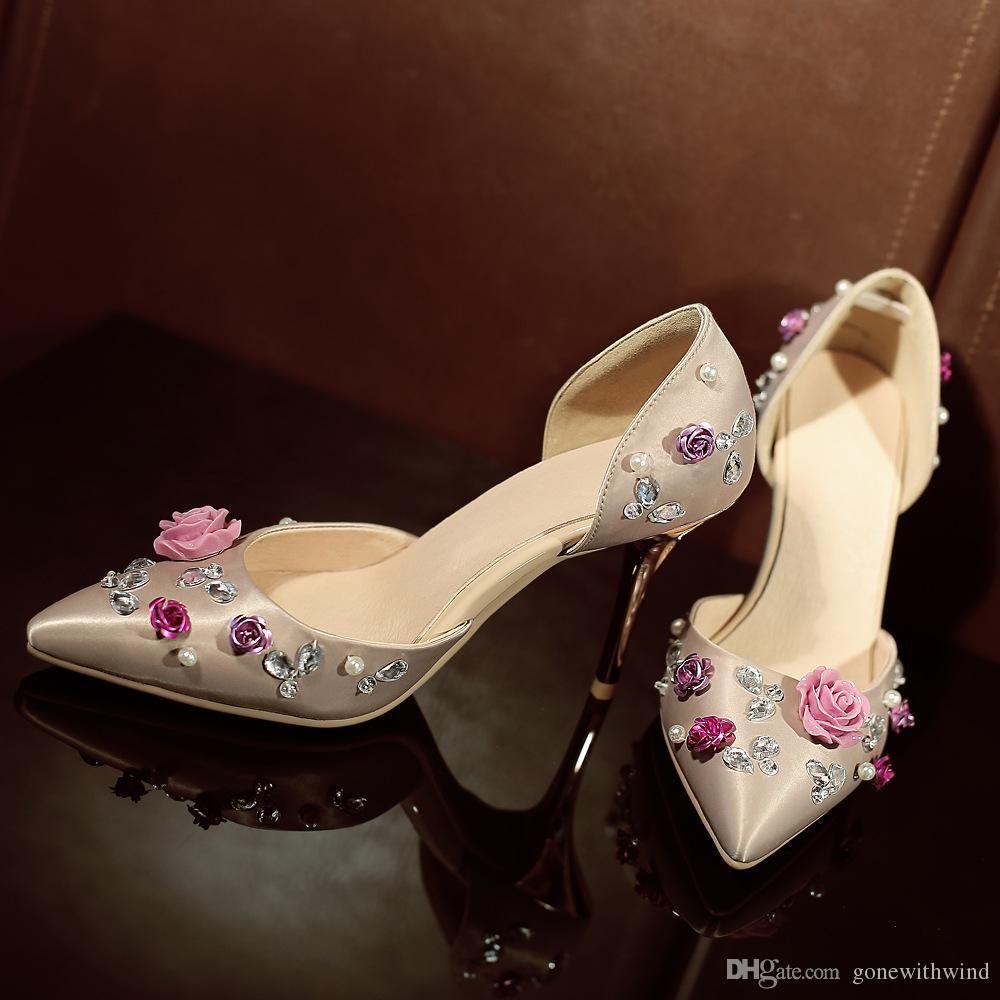 Green pumps heels women wedding shoes 2017 silk bridal shoes for