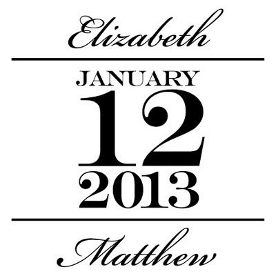 The Big Day Save the Date Personalized Stamp..   I Love It!!