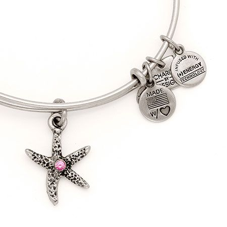 Alex And Ani Breast Cancer Starfish Arms Of Strength Expandable Wire