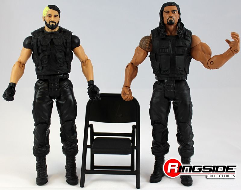 the shield wrestling figures | ... & ROMAN REIGNS (THE SHIELD) WWE BATTLE PACKS 24 MATTEL TOY FIGURES