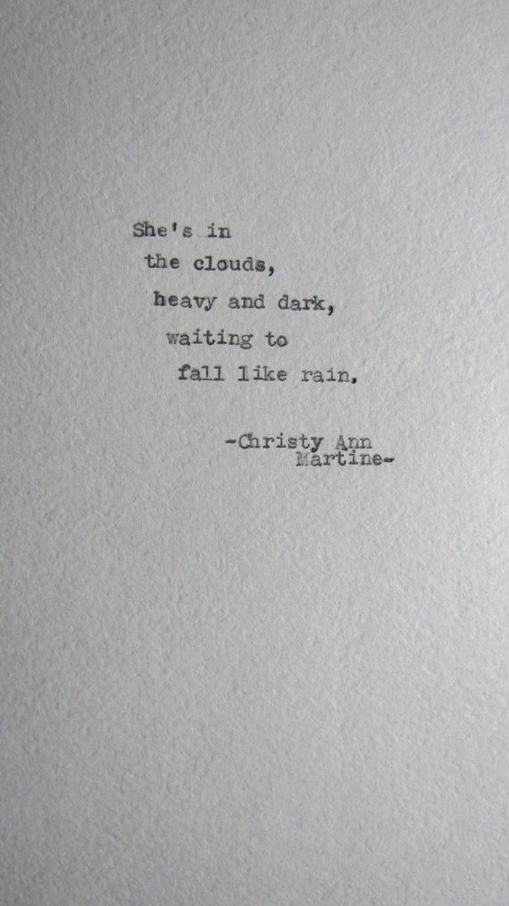 Hand Typed Poems & Poetry Prints by Christy Ann Martine by ChristyAnnMartine