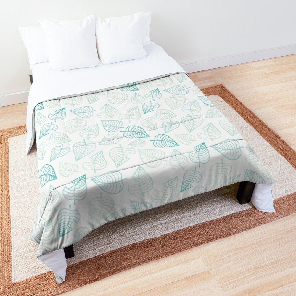 'Animal Crossing New Horizons pattern' Comforter by ... on Animal Crossing New Horizons Bedroom Ideas  id=74383