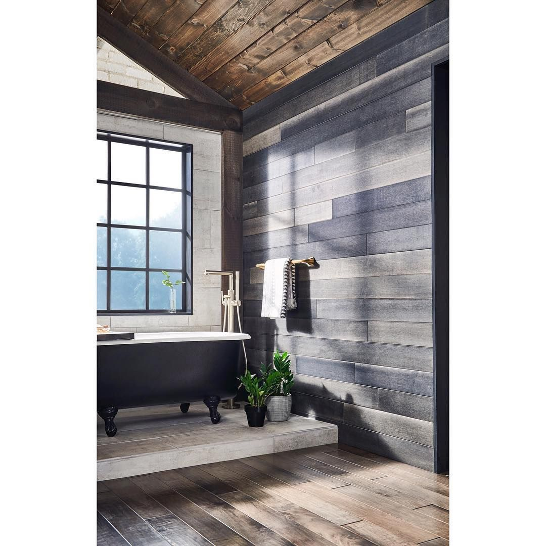 Anderson Tuftex Mystique wood flooring as an accent wall