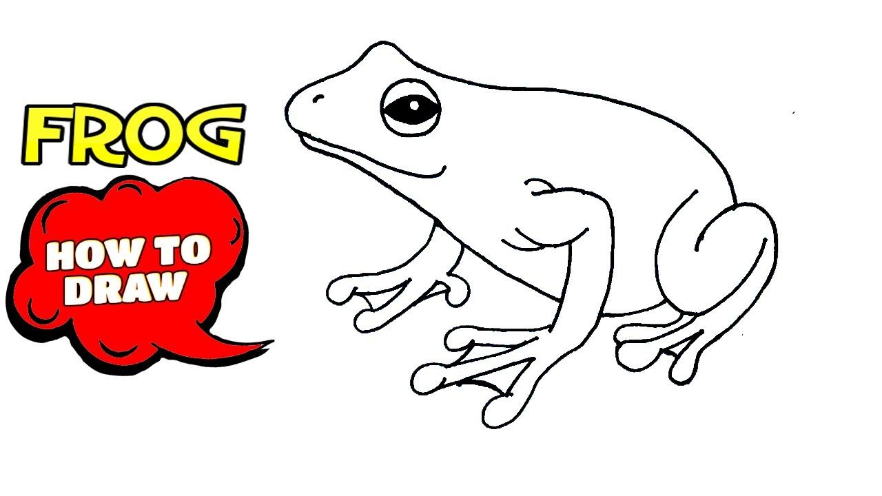 How to draw a Frog (cartoon) | Drawing a Frog step by step ...