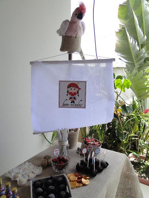 Ideias do Studio: Festa pronta pirata • menina