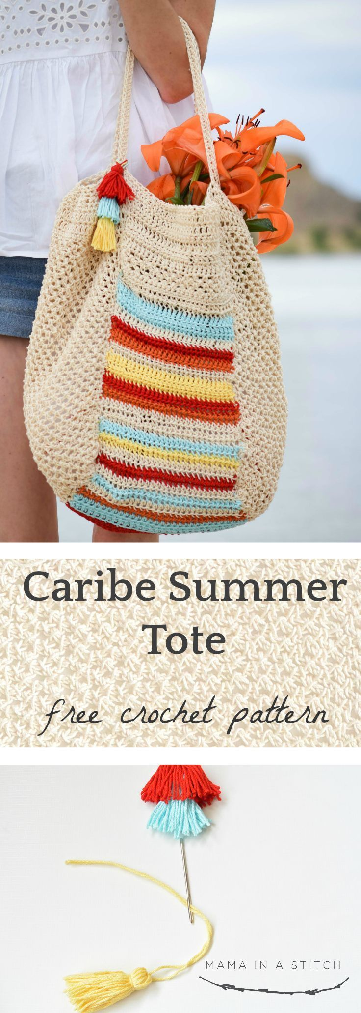 Caribe Big Crocheted Bag Pattern | Projects ❤❤☯ | Pinterest