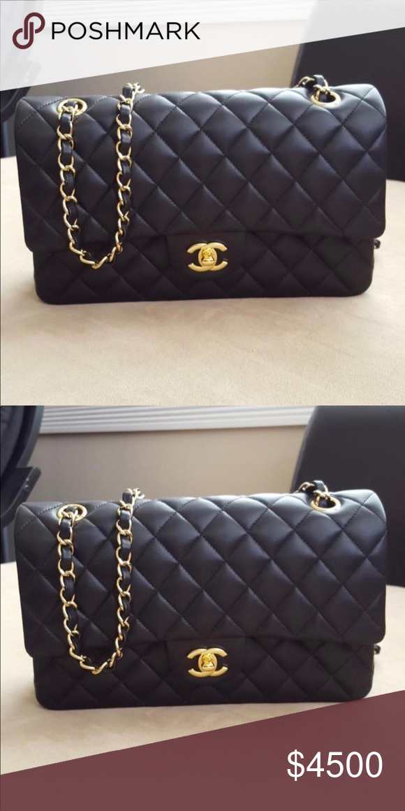 Chanel 2018 Medium Lambskin Classic Hand Bag Gold Hardware Now Bags Crossbody