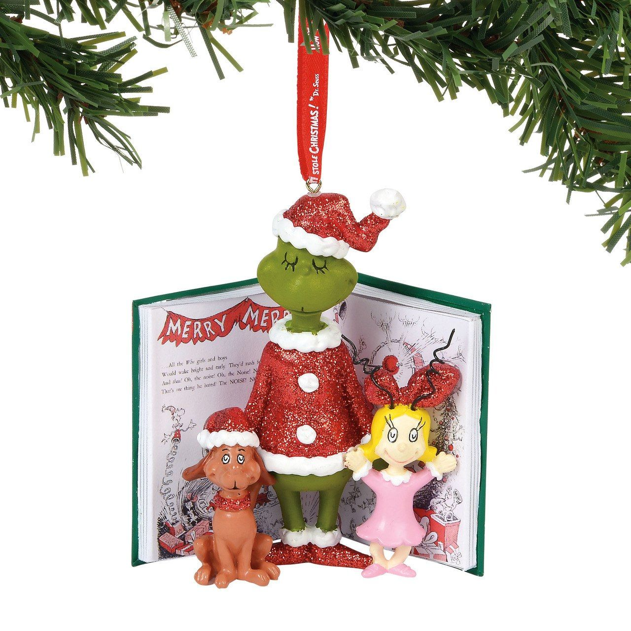 department 56 grinch cindy and max book christmas ornament 6000301