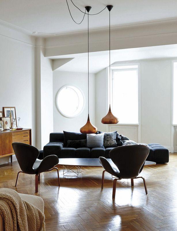 Living room of Evelina KravaevSderberg creative director of HM