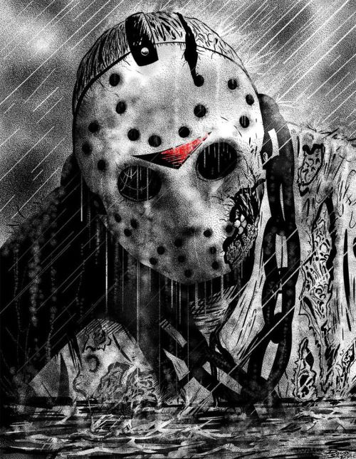 Friday the 13th: Jason Emerges by DougSQ | Twisted Art For Twisted Minds