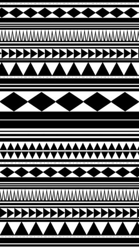 Black And White Aztec Pattern Wallpaper Print Patterns Tribal Prints
