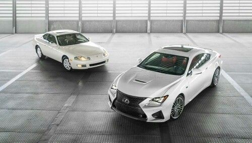 The old and the new. 1995 SC 400 2015 RC F