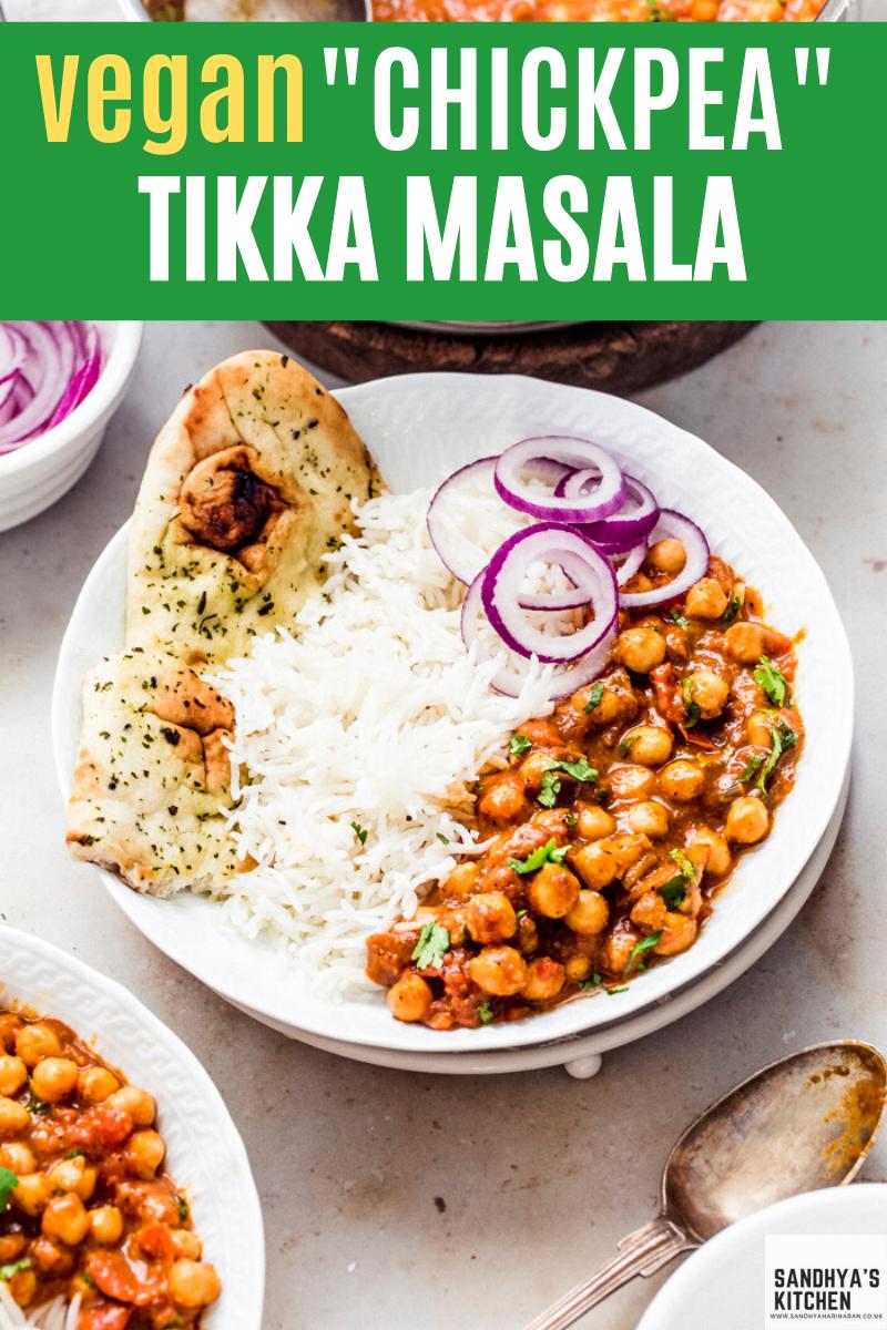 Vegan Chickpea Tikka Masala Recipe Tikka Masala Delicious Vegan Recipes Vegetarian Curry