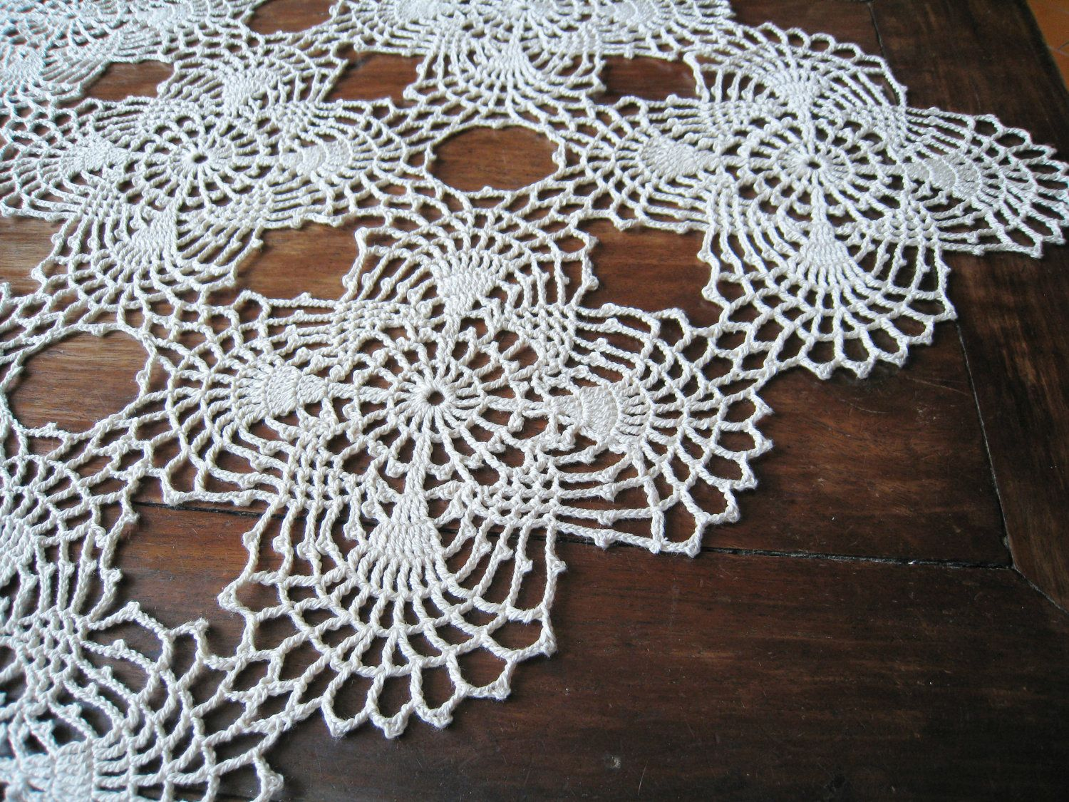 Easy lace crochet table runner request a custom order and have easy lace crochet table runner request a custom order and have something made just for bankloansurffo Choice Image