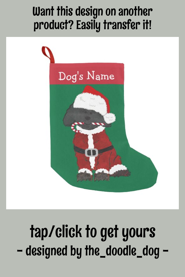 Personalized Christmas Labradoodle Santa Claus Small Christmas Stocking - tap/click to personalize and buy #SmallChristmasStocking #ad #christmas #labradoodle #labradoodles #lover