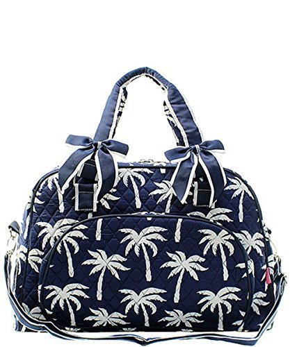 34.28$  Buy here - http://vibfp.justgood.pw/vig/item.php?t=l4va8gc24205 - NGIL Palm Tree Quilted Large Weekender Tote Duffel Bag