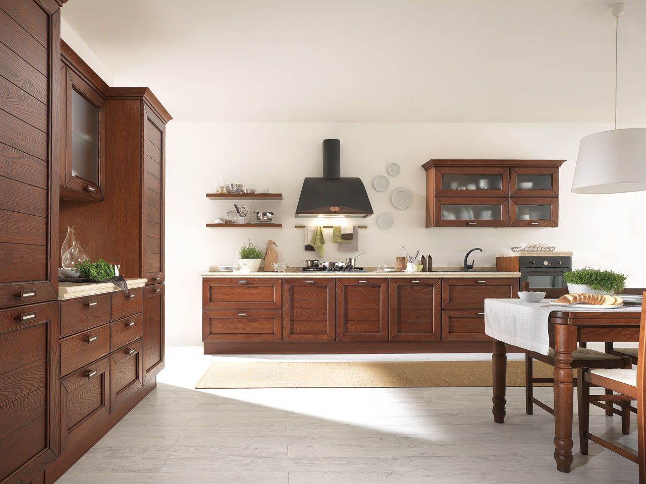 A #kitchen that can be interpreted in a #classic key, its #natural version, and yet a #contemporary option too, with a beauty that will certainly surprise. Claudia is the new solid #wood #kitchen available in three different finishes with 5 warm shades. #LUBE offers accessories for organising every wall unit. base unit and drawer in your #kitchen such as Pull-Out Baskets, Under-Oven Drawer, Telescopic Runners and The Upper Deep Drawer that make the most of your space.