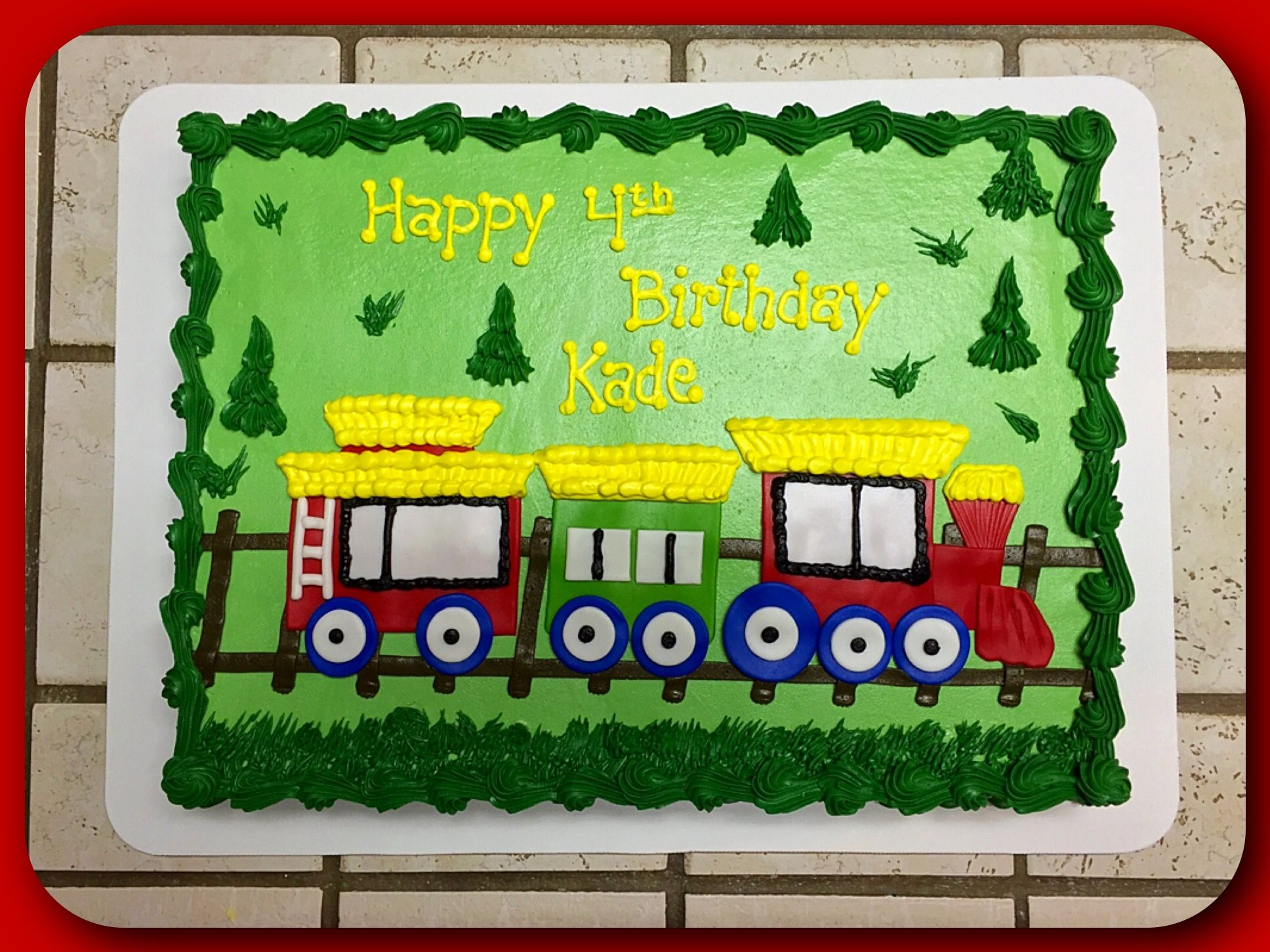 Astonishing A Choo Choo Train Sheet Cake Train Birthday Cake Train Birthday Personalised Birthday Cards Arneslily Jamesorg