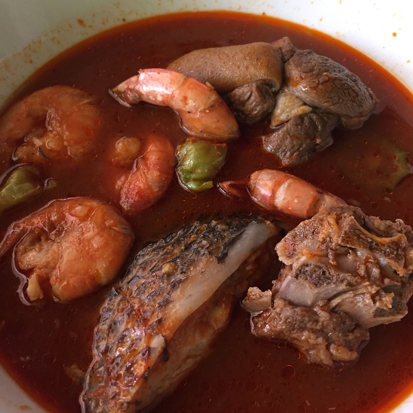 Light soup tilapia shrimps chevon food ghana for African fish recipes