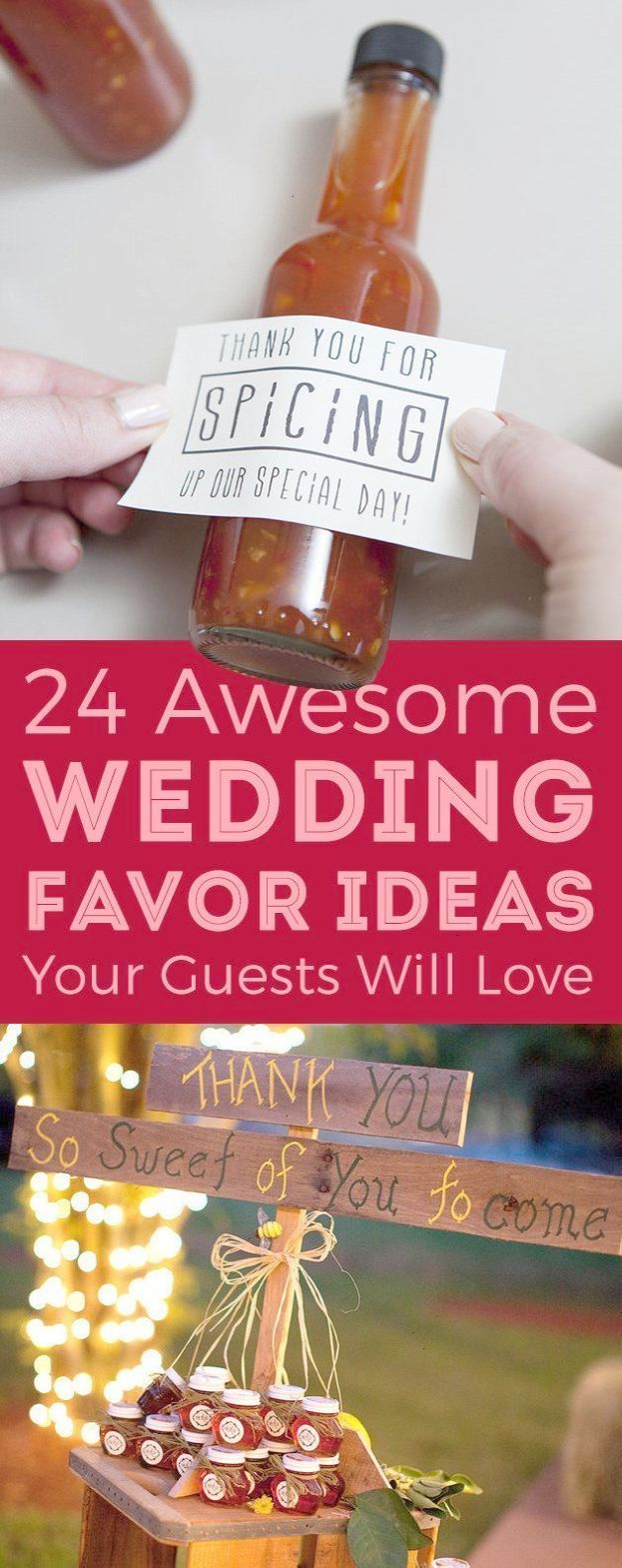 Wedding favor ideas that don\'t suck! Most involve food and alcohol ...