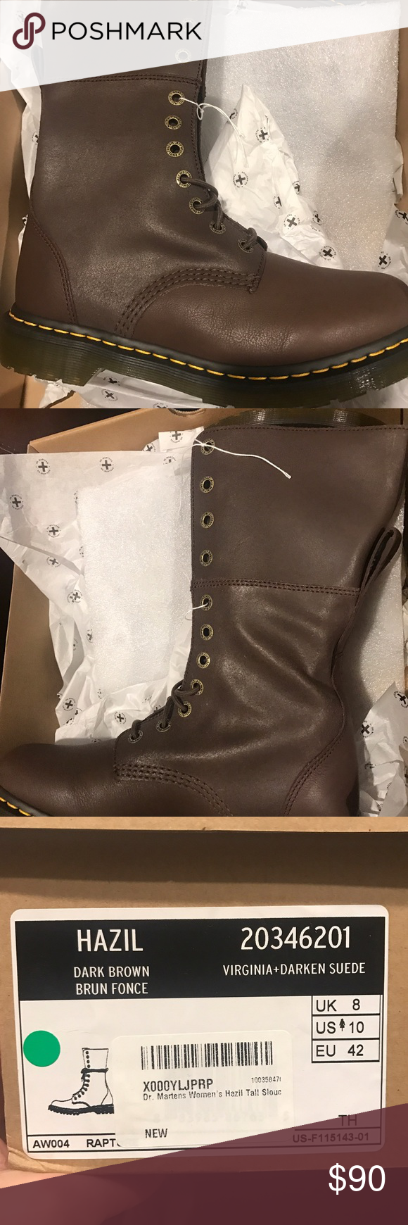 vast selection best cheap details for Dr. Martens Hazil Tall Brown Boots 8 BRAND NEW Brand new Dr ...