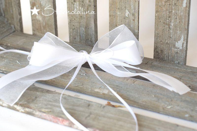 Hochzeitsdeko - 10 Stck. Antennenschleifen Autoschleife Hochzeit - ein Designerstück von Lene004 bei DaWanda
