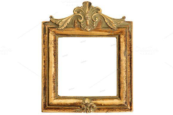 Vintage style antique golden frame   Antique photo frames and Creative