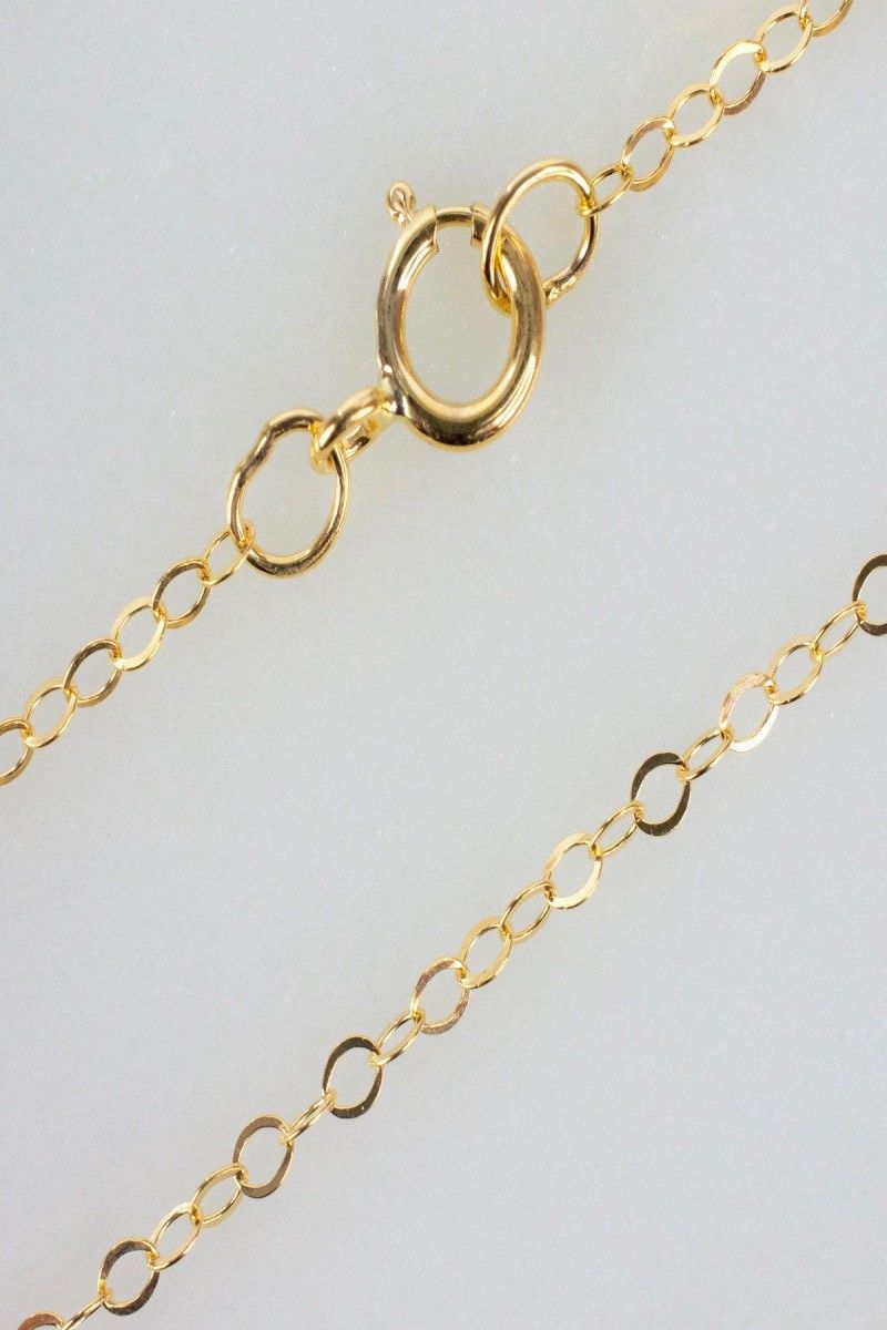 Details About 17 Inch 14k Gold Filled Cable Chain Necklace W Spring Clasp And Closed Rings Cable Necklace Chain Necklace 14k Gold Filled