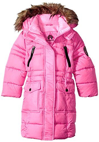More Styles Available Long Puffer Fuchsia Weatherproof Girls Big Fashion Outerwear Jacket 14//16