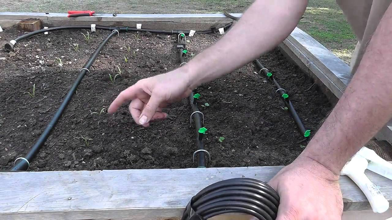Installing a Drip System for Raised Beds, via YouTube