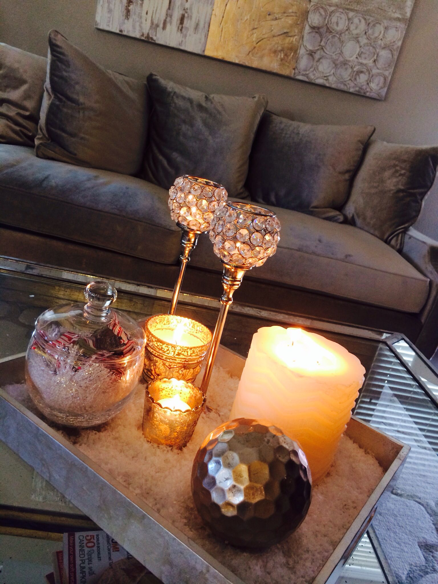 Christmas Decorations Coffee Table | Coffee table ...