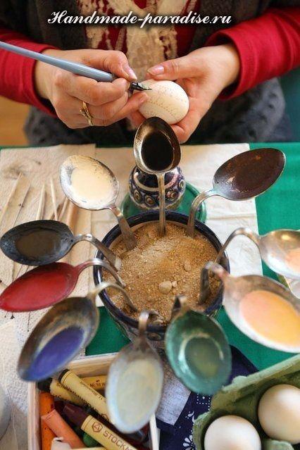 Роспись пасхальных яиц горячим воском | Идеи для пасхи ...