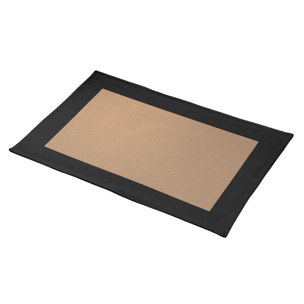 Black And Copper Placemat Zazzle Com Placemats Event Table Settings Room Themes