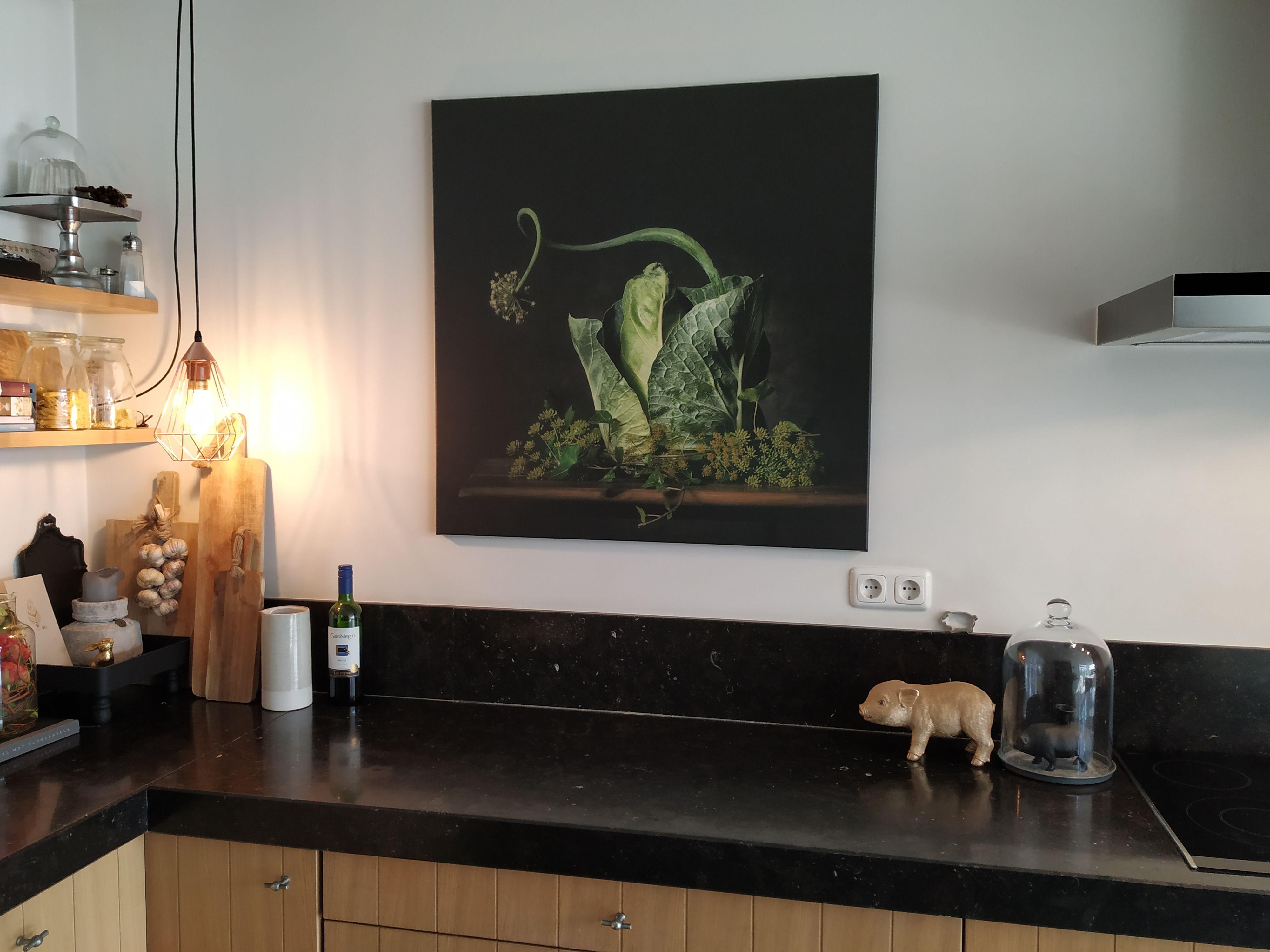 Een Groen Sprookje Van Monique Van Velzen Op Canvas Behang En Meer Behang Groen Canvas
